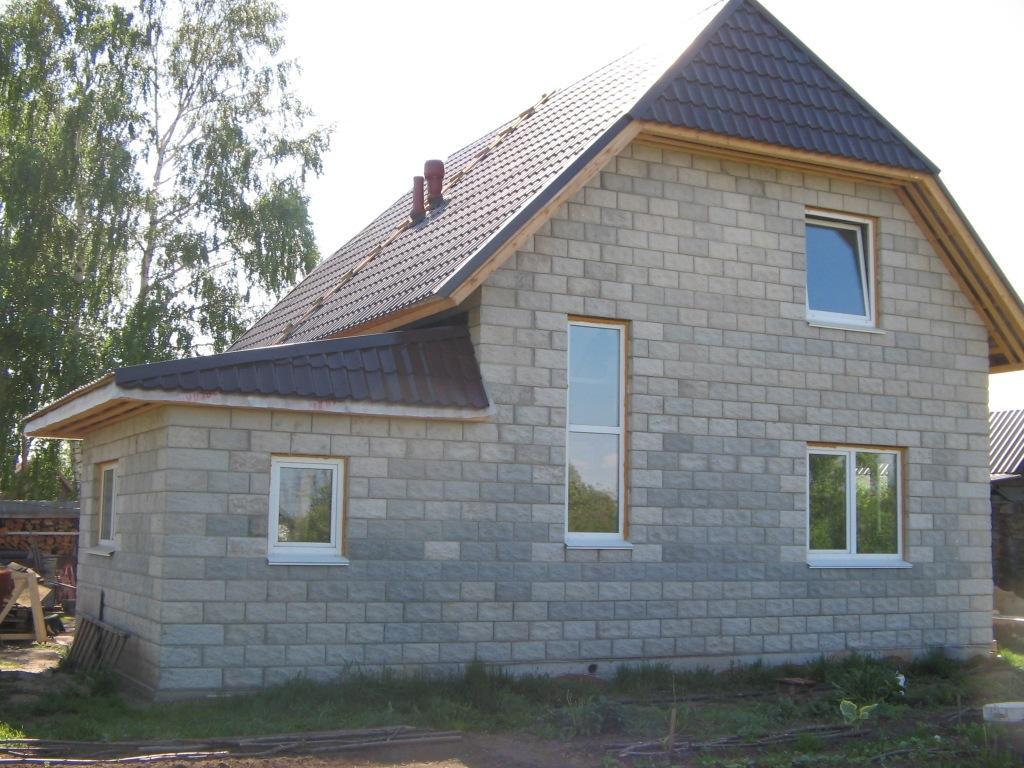 Блочный дом своими руками фото