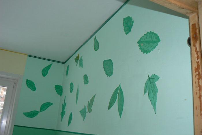Рисунки на стену в кухню своими руками