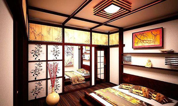 Дизайн интерьера японский стиль