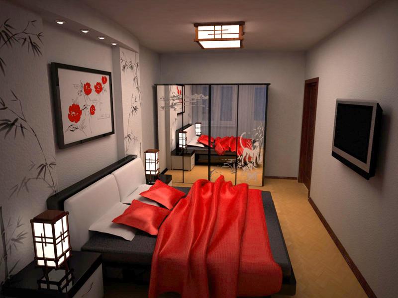 Дизайн спальни 14 кв. м. фото