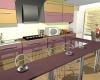 вариант совмещённой гостиной и кухни.