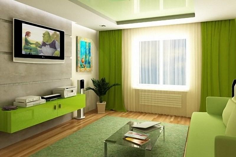 Зелёный интерьер дизайны и