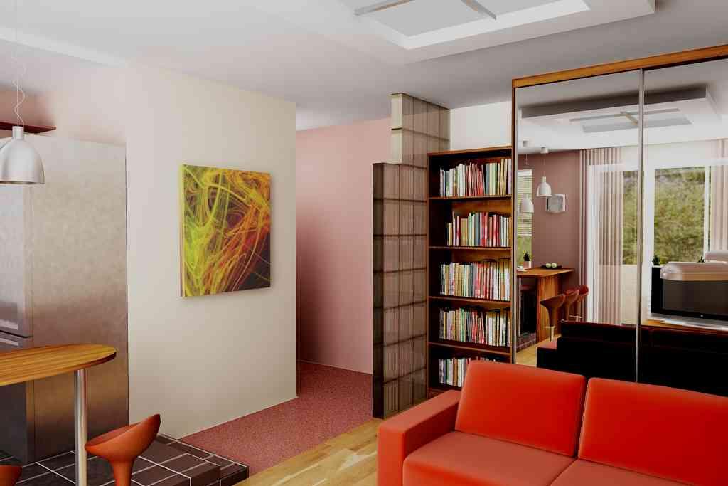 Дизайн в однокомнатной квартире хрущевке