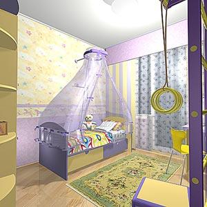 Детская комната дизайн проект