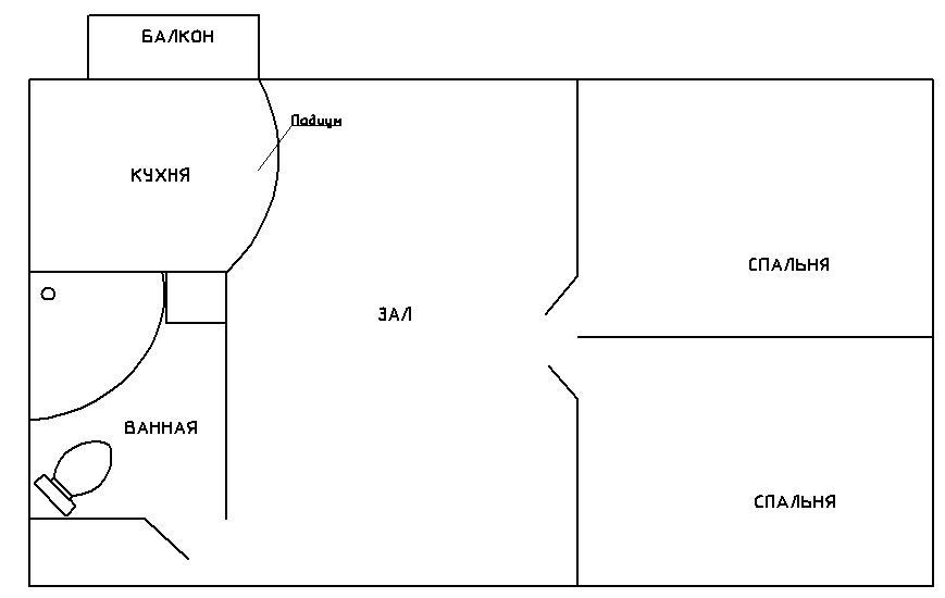 Перепланировка однокомнатной хрущевки: 5 вариантов